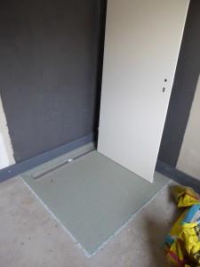 neues Duschboard Bad EG